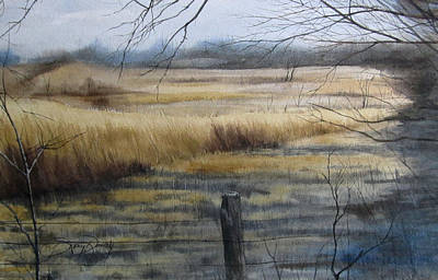 Grass Fields Of Millville Print by Denny Dowdy