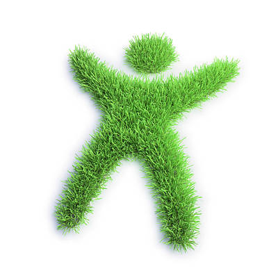 Grass In The Shape Of A Person Print by Andrzej Wojcicki