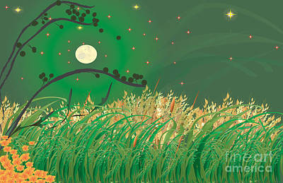 Grasses In The Wind Print by Kim Prowse