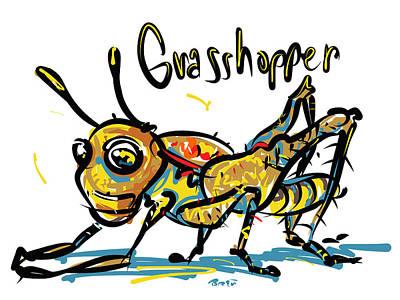 Grasshopper Drawing - Grasshopper by Brett LaGue