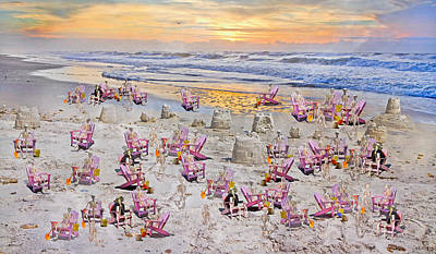 Sand Castles Digital Art - Grateful Holiday by Betsy Knapp