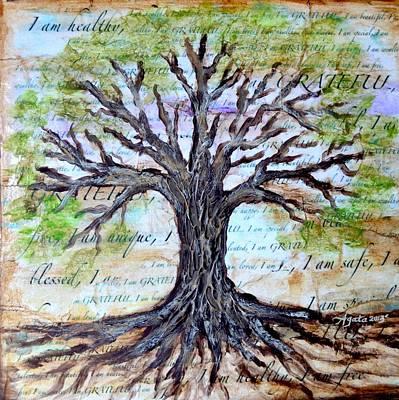Subconscious Painting - Gratitude Tree by Agata Lindquist