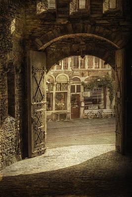 Gravensteen Doorway Original by Joan Carroll
