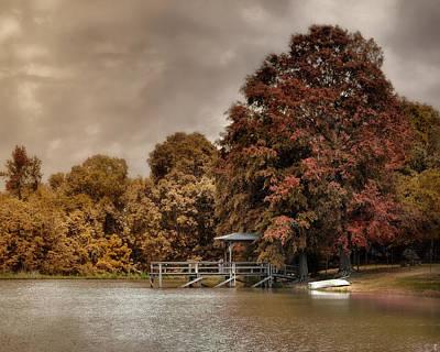 Autumn Scenes Photograph - Graves Pond In Autumn by Jai Johnson