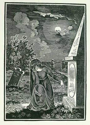 Moonlit Night Photograph - Graveyard by British Library