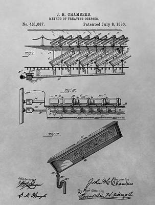 Coffin Drawing - Graveyard Patent by Dan Sproul