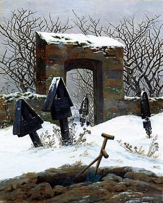 Graveyard Under Snow Print by Philip Ralley