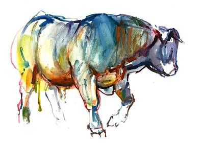 Cow Drawing - Gravitas by Mark Adlington