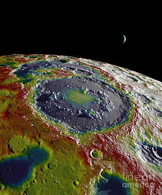 Heavenly Body Photograph - Gravity Map Of The Moon by Science Source