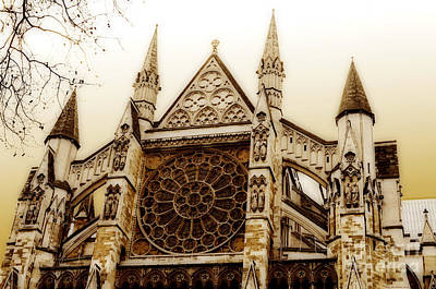 Westminster Abbey Digital Art - Great Architecture Westminster Abbey by MaryJane Armstrong