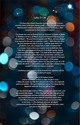 Great Bible Verses For Christmas Print by Irina Effa