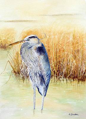 Bird Painting - Great Blue Heron by Hannah Boynton