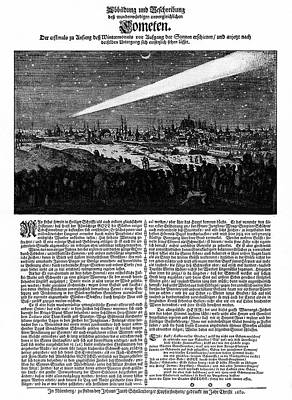 Comet Photograph - Great Comet Of 1680 by Cci Archives