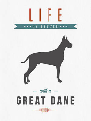 Cute Dog Mixed Media - Great Dane 01 by Aged Pixel