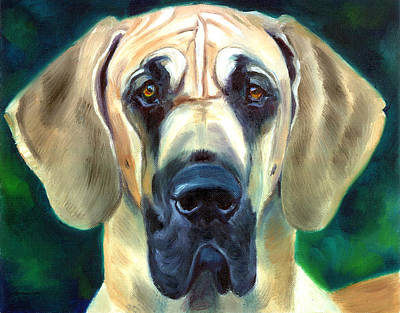 Working Breed Painting - Great Dane Nobility by Lyn Cook