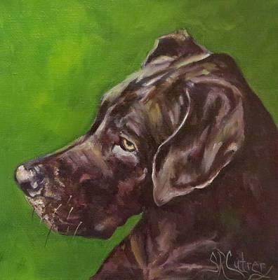 Dog Animal Pet Portrait Great Dane  Original by Sandra Cutrer