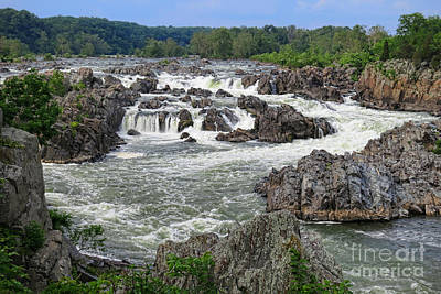 Great Falls Of The Potomac Print by Olivier Le Queinec