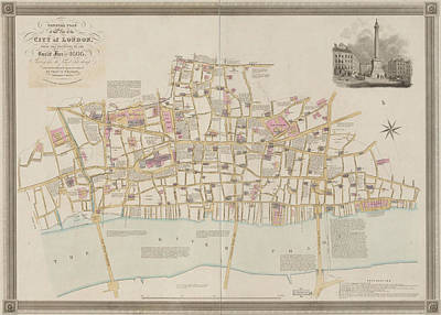 Cartography Photograph - Great Fire by British Library