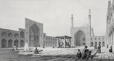 Great Friday Mosque In Isfahan Print by Pascal Xavier Coste