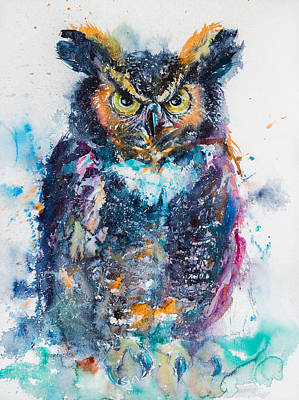 Great Horned Owl Print by Kovacs Anna Brigitta