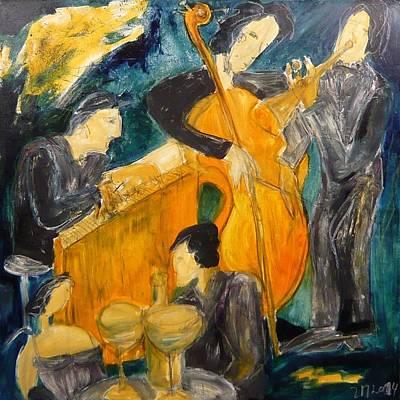 Modernart Painting - great Jazz by Sonja  Zeltner