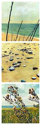 Painting - Great Lakes Triptych 2 by Michelle Calkins
