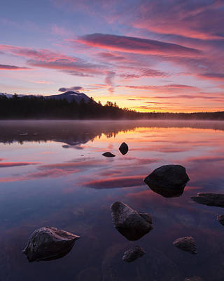 Great Mountain Sunrise Print by Patrick Downey