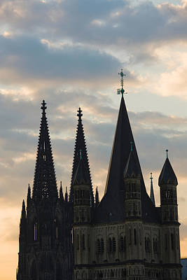 Great Saint Martin Church And Cologne Print by Panoramic Images