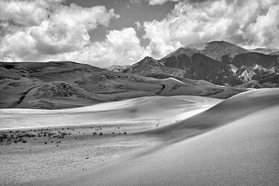 Great Sand Dunes #6 - Black And White Print by Nikolyn McDonald