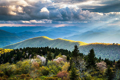 Sun Photograph - Great Smoky Mountains National Park - The Ridge by Dave Allen