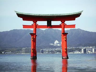 Miyajima Photograph - Great Torii Gate Of Miyajima by Daniel Hagerman