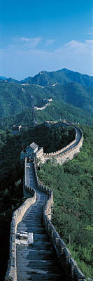 Wonders Of The World Photograph - Great Wall Of China Beijing China by Panoramic Images