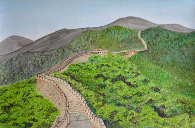 Wonders Of The World Painting - Great Wall Of China by Swati Singh