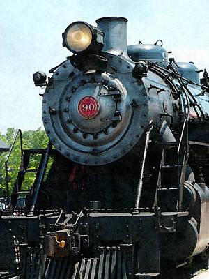 Steam Engine Photograph - Great Western 90 by Susan Savad