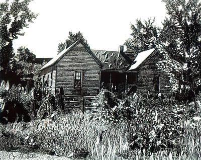 Old House Drawing - Greatgrandmother's House by Cory Still