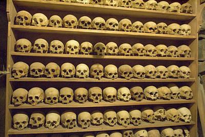 Greece, Meteora Skulls Of Monastics Print by Jaynes Gallery