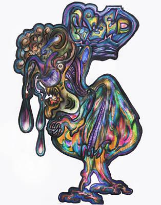 Sloth Mixed Media - Greed by Tiffany Selig