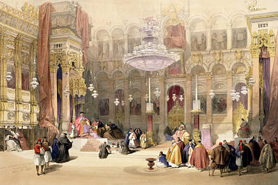 Religious Drawing - Greek Church Of The Holy Sepulchre by David Roberts