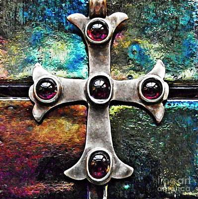 Greek Cross 3 Print by Sarah Loft