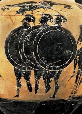 Ceramics Photograph - Greek Hoplies. Greek Classical Art by Everett