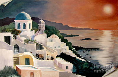 Famous Acrylic Landscape Painting - Greek Isles by Marilyn Smith