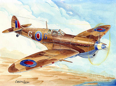 Georgio Painting - Greek Squadron Spitfire by Georgios Moris