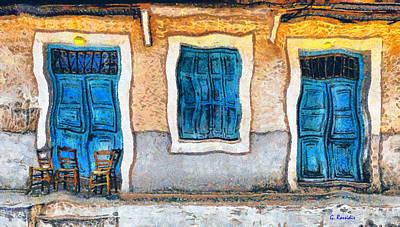 Chair Painting - Greek Village 33 by George Rossidis