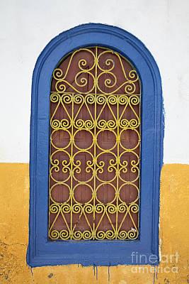 Greek Window Print by Neil Overy