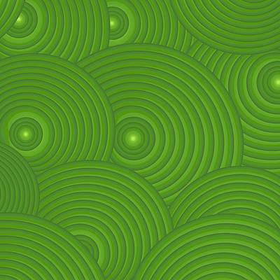Green Abstract Print by Frank Tschakert