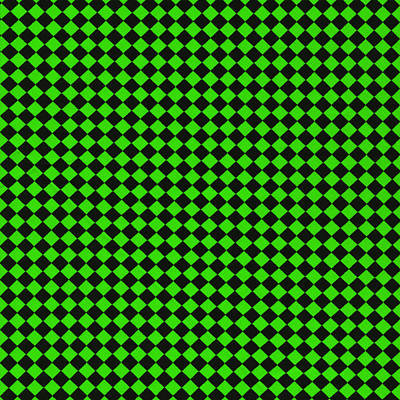 Green And Black Checkered Pattern Cloth Background Print by Keith Webber Jr