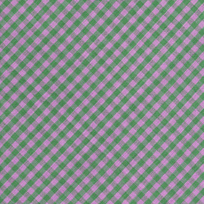 Green And Pink Checkered Diagonal Tablecloth Cloth Background Print by Keith Webber Jr