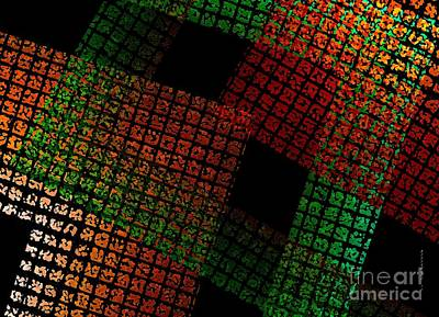 Green And Red Square  Print by Mario  Perez