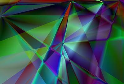 Dialog Digital Art - Green And Violet In A Dynamic Light Dialogue by Art Di
