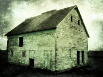 Green Barn Print by Julie Hamilton